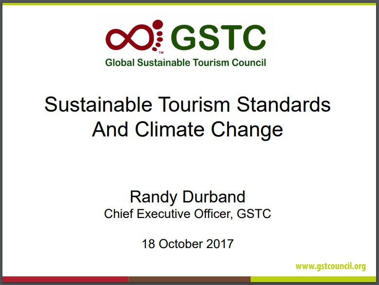 Sustainable Tourism Standards and Climate Change