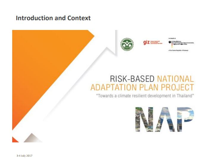 Introduction of Risk-based National Adaptation Plan Project