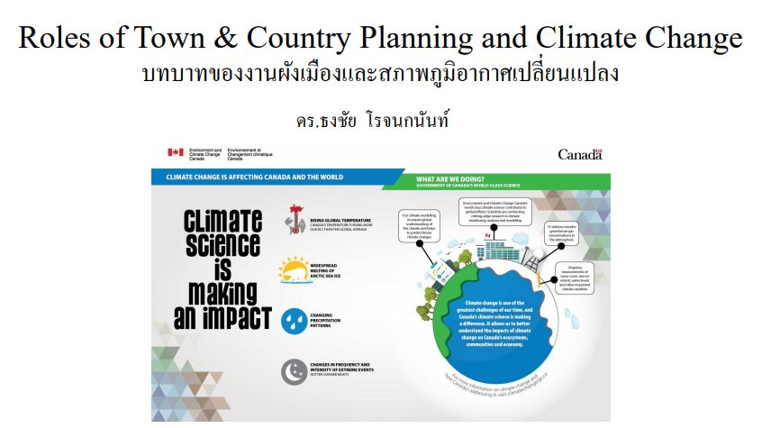 Roles of town & country planning and climate change in Thailand