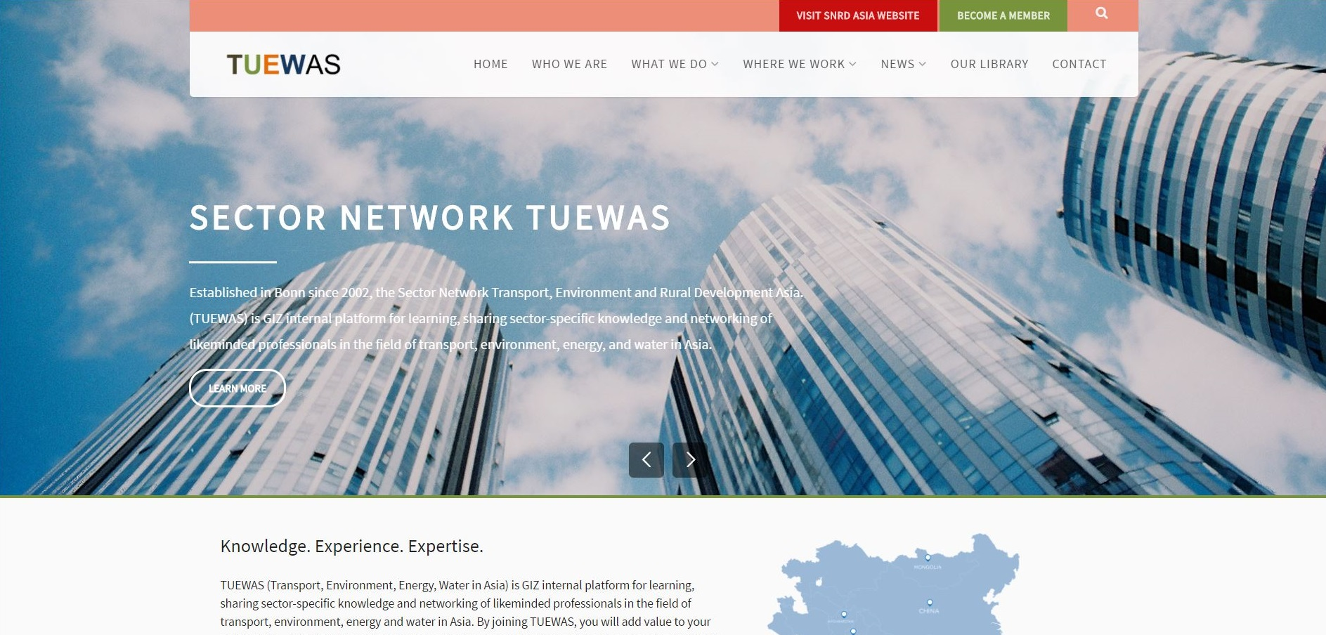 The Sector Network Transport, Environment, Energy and Water in Asia launches new website