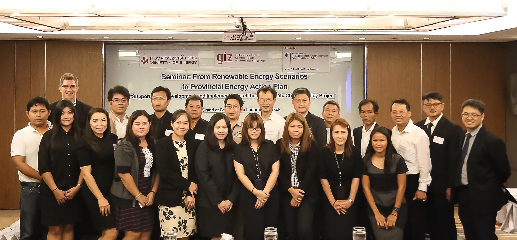Thai provinces meet to learn about 3 pilot provinces' renewable energy scenarios