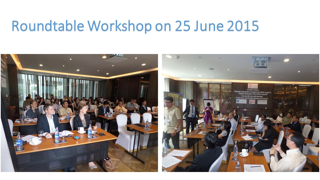 "Roundtable Workshop ""Financial mechanisms to transform the ESCO market in Thailand: Discussion of the NAMA proposal"""