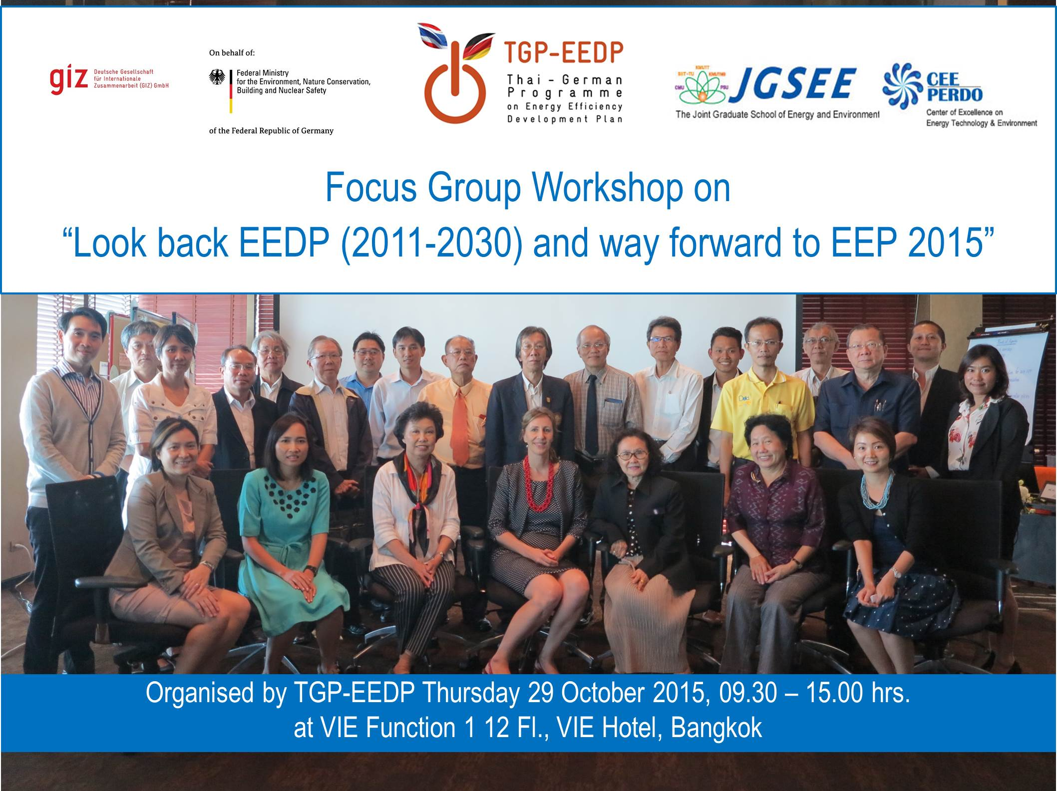 Focus Group Meeting on 'Look Back EEDP (2011-2030) and Way Forward to EEP 2015'