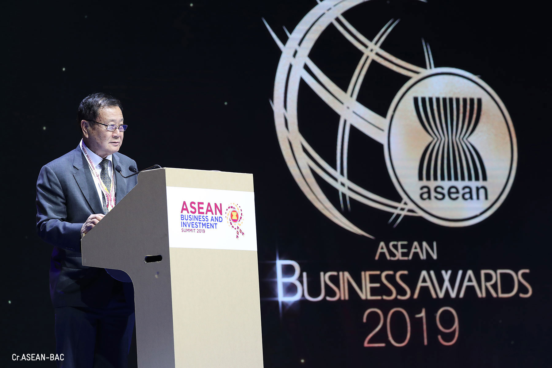 Mr.Phairush Burapachaisri, Vice Chairman, Board of Trade of Thailand and Chairman of ASEAN Business Awards (ABA) 2019